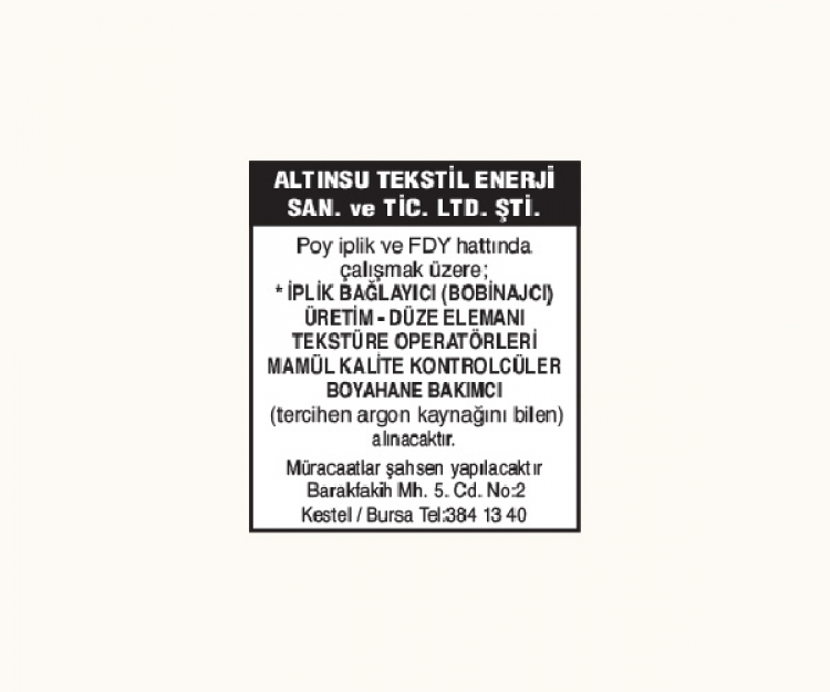 ALTINSU TEKSTİL