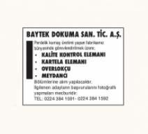 BAYTEK DOKUMA